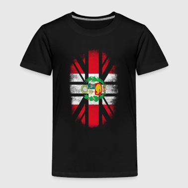 British Peruvian Flag - Peru and UK Pride TShirt - Toddler Premium T-Shirt