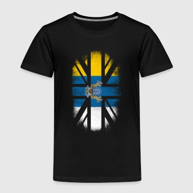 Pride British Canarian Flag - Canary Islands and UK Pride TShirt - Toddler Premium T-Shirt
