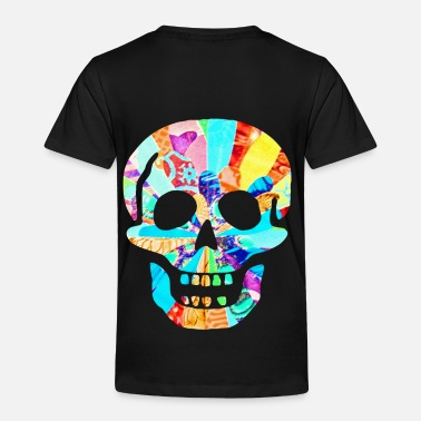 Neon artTS SCARY BIG NEON SKULL multi - Toddler Premium T-Shirt