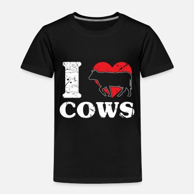 Milk Cow Bull Black White - Toddler Premium T-Shirt