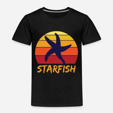 Blue Starfish sea lake blue waves foam - Toddler Premium T-Shirt