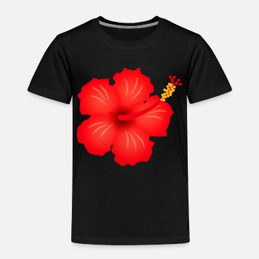 Blume hibiscus exotic flower bloom plant glora gift - Toddler Premium T-Shirt