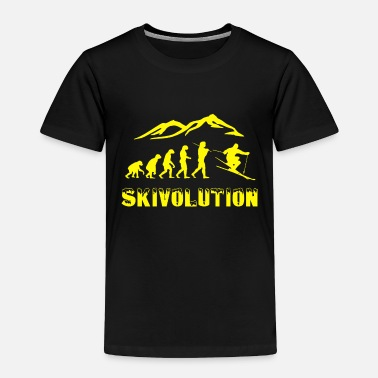 Running Ski evolution skier snow sport cool - Toddler Premium T-Shirt