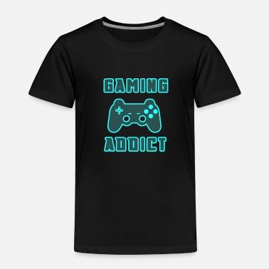 Code Gaming Addict with Gamepad Joypad Gamer - Toddler Premium T-Shirt