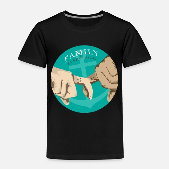 Family Reunion Baby Clothing - Family lover Family day Family crest holiday gift - Toddler Premium T-Shirt black