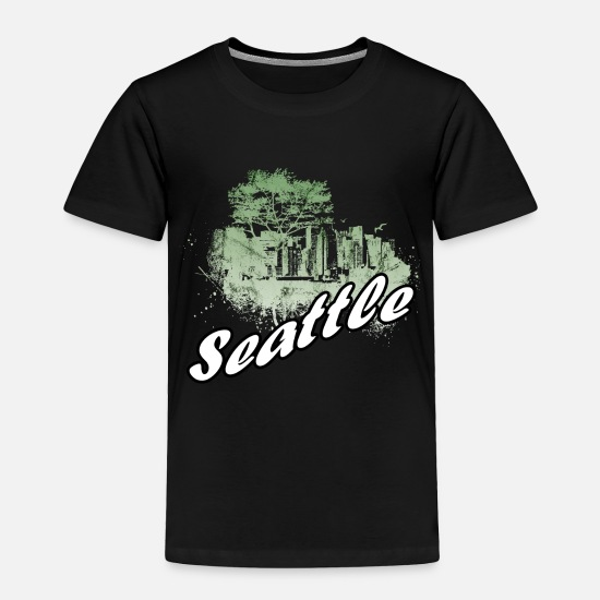 Seattle Baby Clothing - Seattle - Toddler Premium T-Shirt black