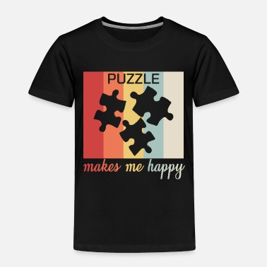 Optical Illusion Puzzle Makes Me Happy Funny Gift - Toddler Premium T-Shirt