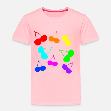 Cherry Cherry rainbow falling cherries - Toddler Premium T-Shirt