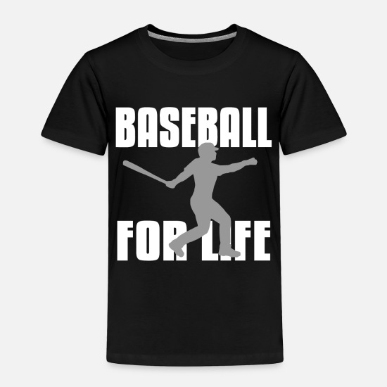 Ball Baby Clothing - Baseball Players Softball Pitcher - Toddler Premium T-Shirt black