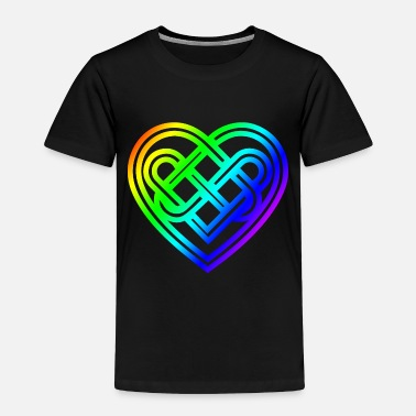 Viking Celtic Symbol Heart Rainbow Celtic Knots Gift - Toddler Premium T-Shirt