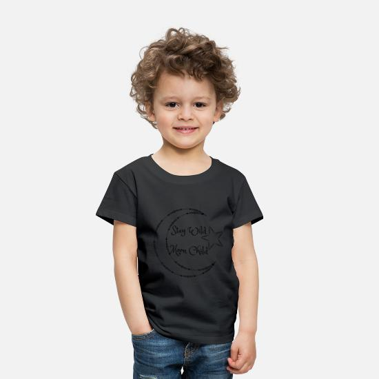 Moon Baby Clothing - Stay Wild Moon Child - Toddler Premium T-Shirt black
