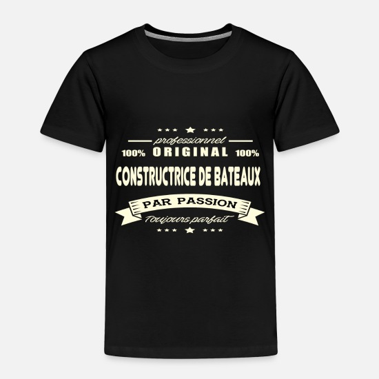 Boat Baby Clothing - Original boat builder - Toddler Premium T-Shirt black