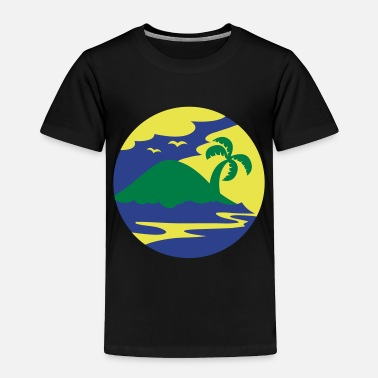 Holiday Island awesome island in a circle Holiday!!! - Toddler Premium T-Shirt