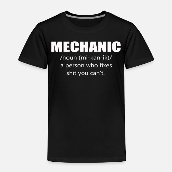 Mechanic Baby Clothing - Mechanic - Toddler Premium T-Shirt black