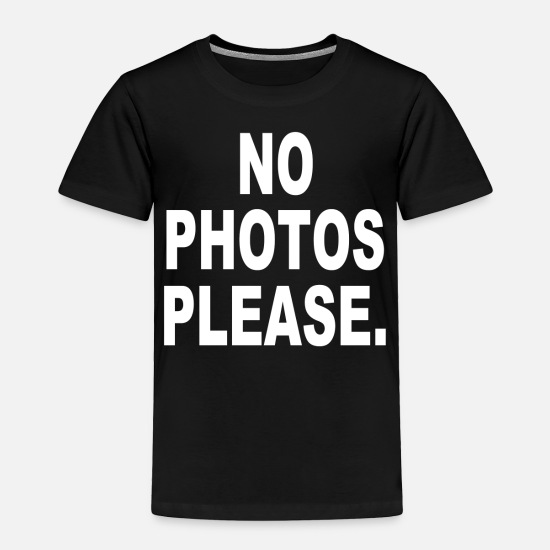 Movie Baby Clothing - No Photos Please - Toddler Premium T-Shirt black