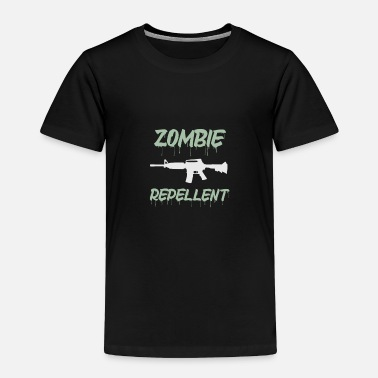 Bloody Equipped with zomvie repellent machine gun - Toddler Premium T-Shirt