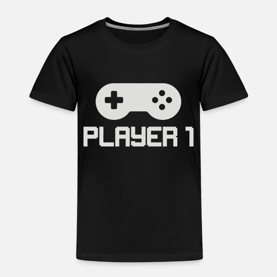 Number Baby Clothing - Player 1 - Toddler Premium T-Shirt black