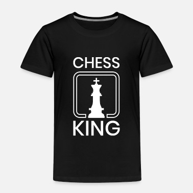 Chess Chess King figure board game player piece gift fun - Toddler Premium T-Shirt
