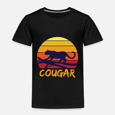 Safari Cougar tooth black jungle - Toddler Premium T-Shirt