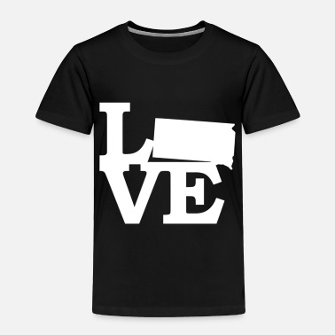 Live South Dakota Pride USA State Love Map - Toddler Premium T-Shirt