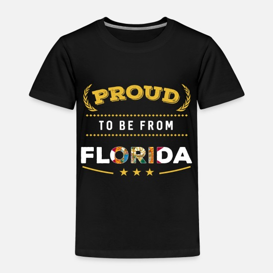 Orlando Baby Clothing - Proud To Be From Florida Pride - Toddler Premium T-Shirt black