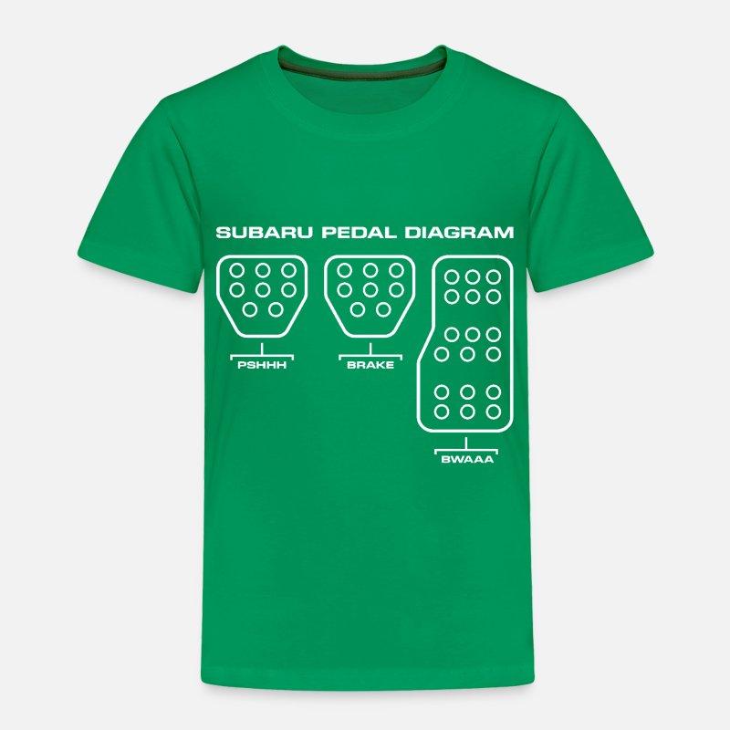 Subaru Pedal Diagram Toddler Premium T Shirt Spreadshirt