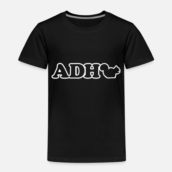 Awareness Baby Clothing - ADHD Squirrel - Toddler Premium T-Shirt black