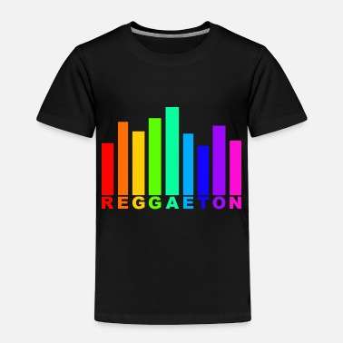 Reggaeton Reggaeton Rainbow audio wave - Toddler Premium T-Shirt
