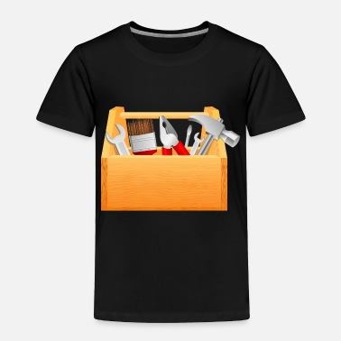 Hollow Simple Tool Box - Toddler Premium T-Shirt