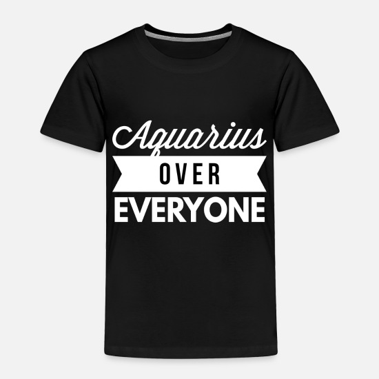 Queen Baby Clothing - Aquarius over everyone - Toddler Premium T-Shirt black