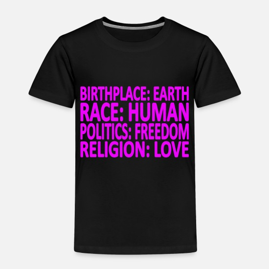 Birthplace Baby Clothing - Against Racism T-Shirt - Toddler Premium T-Shirt black