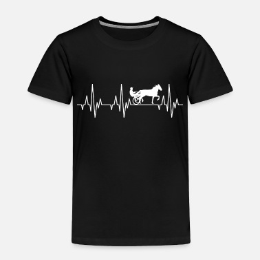 Equitation Heartbeat Horses Riding Harness Racing Equitation - Toddler Premium T-Shirt