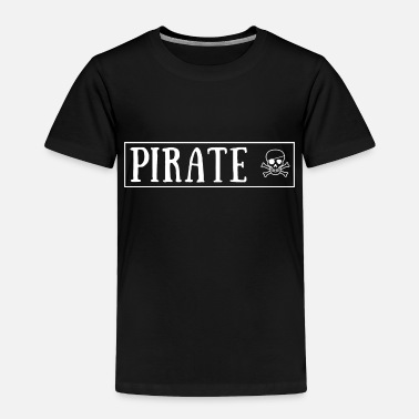 Eye-patch pirate with skull and eye patch - Toddler Premium T-Shirt