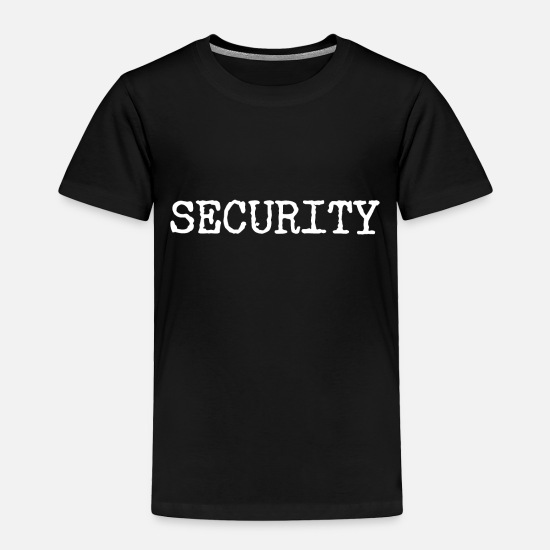 Security Service Baby Clothing - Security - Bodyguard - Toddler Premium T-Shirt black