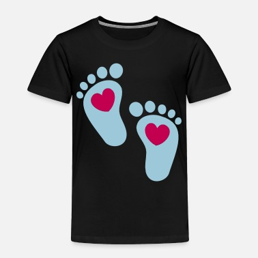 Funny Baby Body ❤ټLovely Baby Footprints-Vector Footprintsټ❤ - Toddler Premium T-Shirt