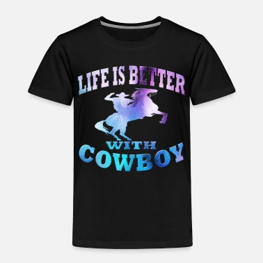 Western Riding Cowboy - Toddler Premium T-Shirt