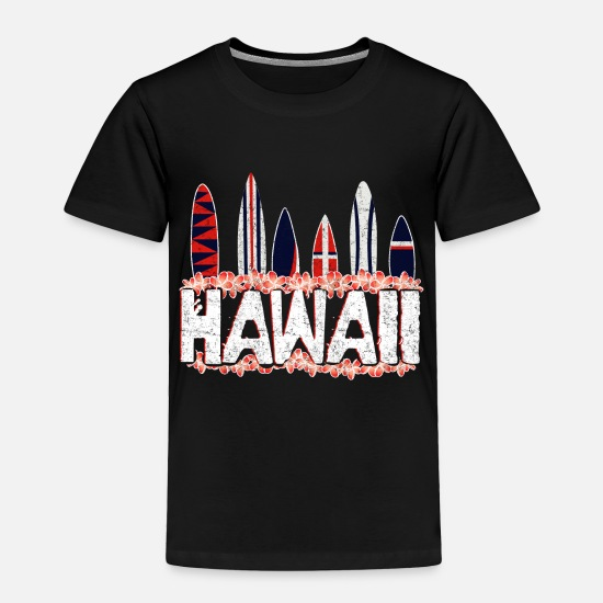 Surfer Girl Baby Clothing - Hawaii surfing gift - Toddler Premium T-Shirt black