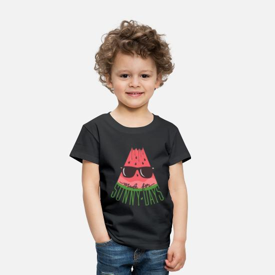 Fruit Baby Clothing - Made for Sunny Days - Toddler Premium T-Shirt black