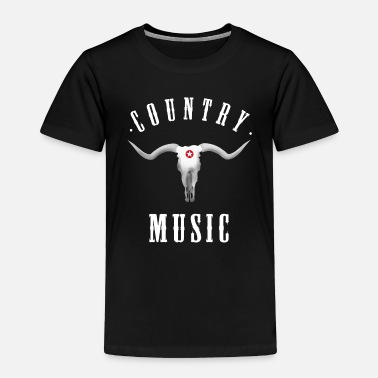 Western country music longhorn Cowboy Western Rodeo horse - Toddler Premium T-Shirt