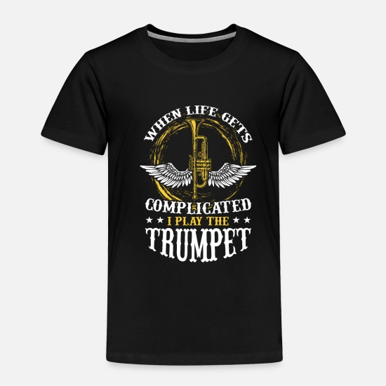 Gift Idea Baby Clothing - Trumpet - Toddler Premium T-Shirt black