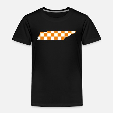 Checkerboard Tennessee Checkerboard State Shirt Sticker - Toddler Premium T-Shirt