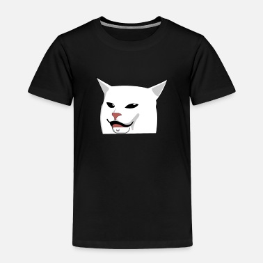 Meme Cat Meme at Table yelling woman - Toddler Premium T-Shirt