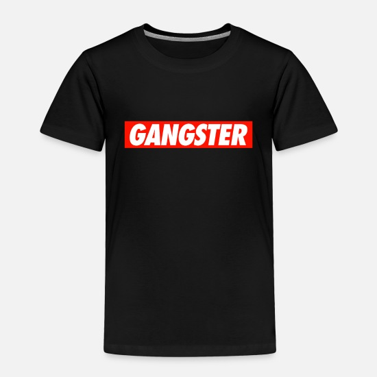 Gangster Baby Clothing - GANGSTER - Toddler Premium T-Shirt black