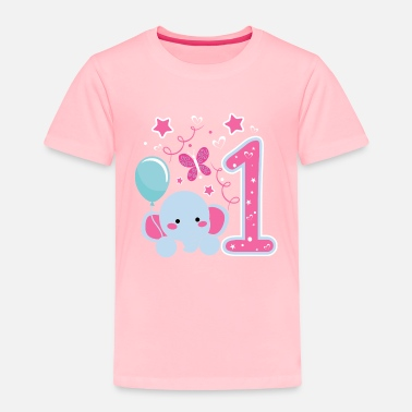 Rainbow 1st Birthday T-Shirt 1st Birthday Girl Gifts Cute Girl Toddler T-Shirt