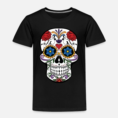 Skull Sugar Skull - Toddler Premium T-Shirt