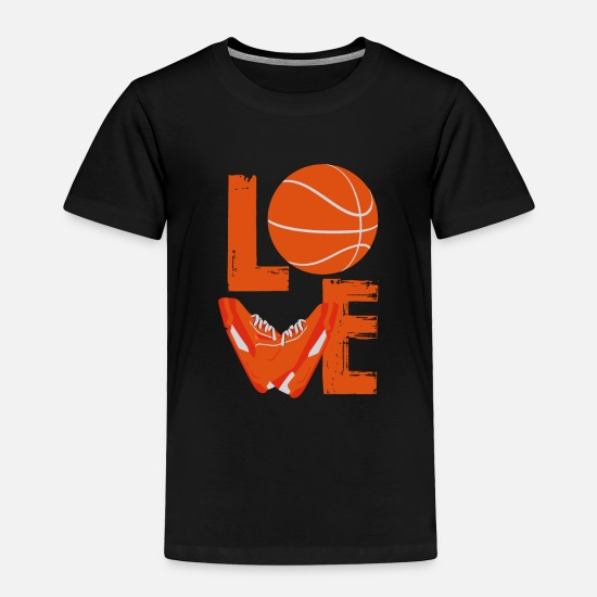 Shoes Baby Clothing - Basketball Love | Love Shoes - Toddler Premium T-Shirt black