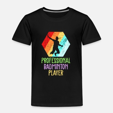 Indoor Badminton player retro - Toddler Premium T-Shirt