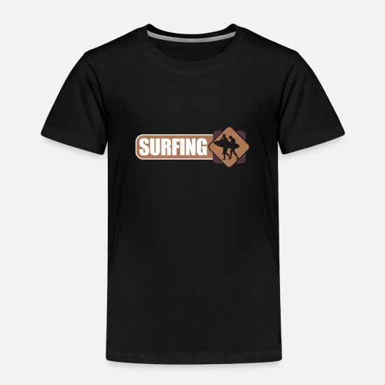 Birthday Baby Clothing - Surfing - Toddler Premium T-Shirt black