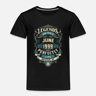 Born In June Retro Vintage June 1999 birthday - Toddler Premium T-Shirt
