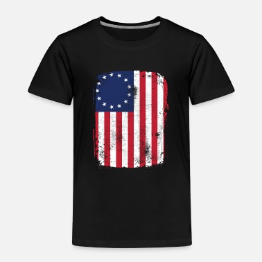 5 Stars Betsy Ross 13 Star American Flag Funny Patriotic - Toddler Premium T-Shirt